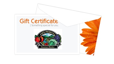 gift certificates for joe s produce gourmet market