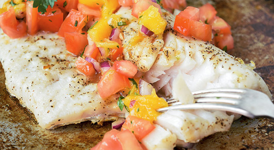 Grilled Walleye With Mango Salsa Recipe From Joe S Produce